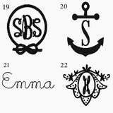 Ladies Monogrammed Discs for Summer Sandals