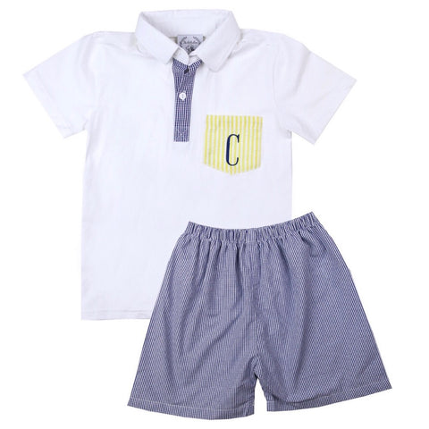 Hamptons Polo & Shorts Set