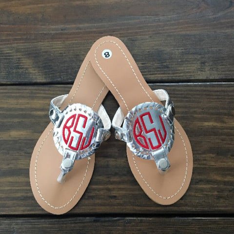 Ladies Monogrammed Summer Sandals