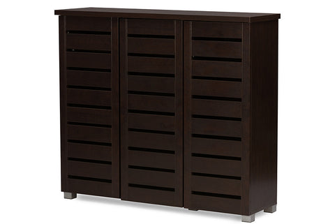 shoe storage furniture for entryway. baxton studio adalwin modern and contemporary 3door dark brown wooden entryway shoes storage cabinet shoe furniture for