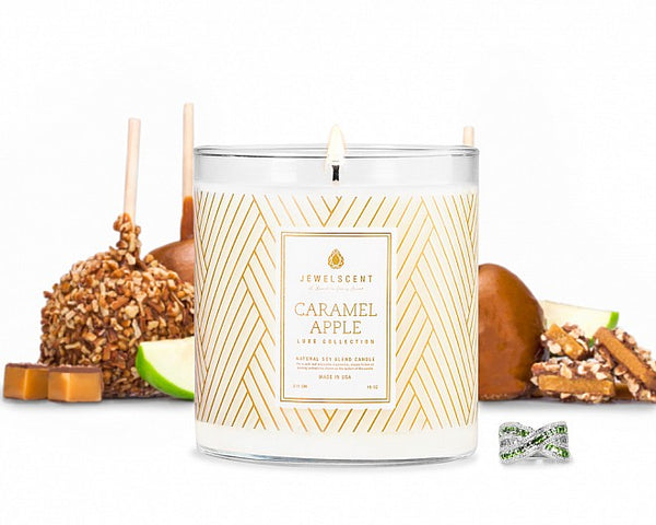Luxe Caramel Apple Jewelry Candle - Ms Lilly's Closet