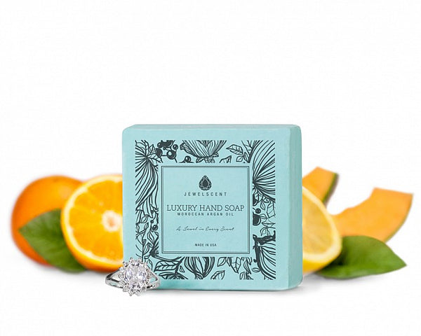 Citrus Melon Moroccan Argan Oil Jewelry Hand Soap - Ms Lilly's Closet