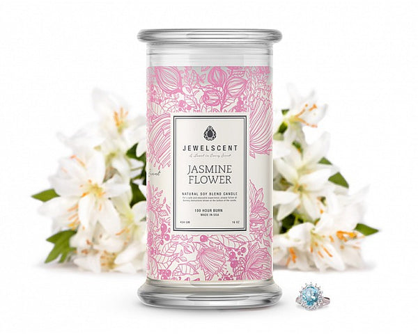 Jasmine Flower Jewelry Candle - Ms Lilly's Closet