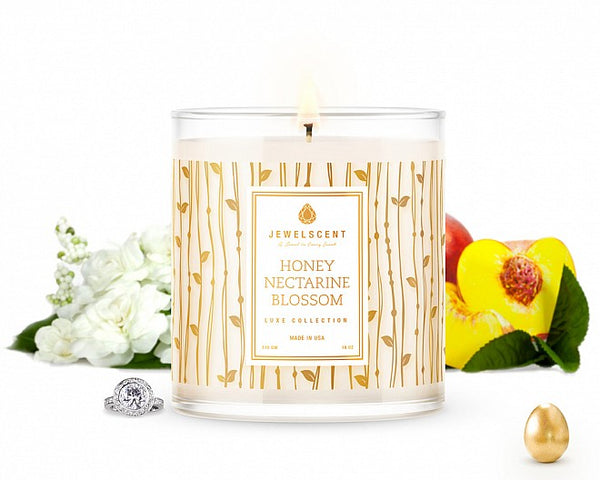 LUXE Honey Nectarine Blossom Jewelry Candle - Ms Lilly's Closet