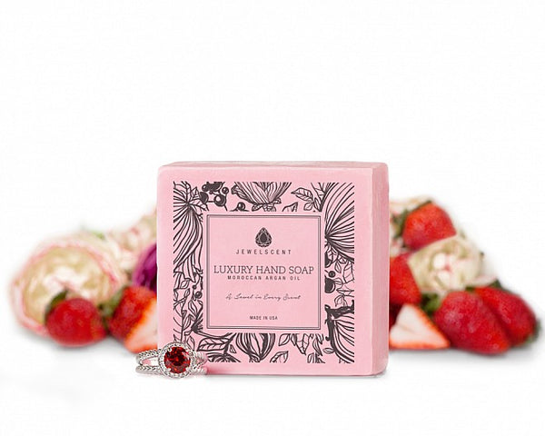 Strawberry Sorbet Moroccan Argan Oil Jewelry Hand Soap - Ms Lilly's Closet