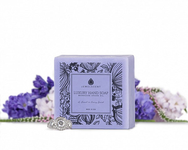 Lilac Blossom Moroccan Argan Oil Jewelry Hand Soap - Ms Lilly's Closet