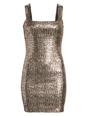 L'AGENCE Auden Dress -Bronze/Copper