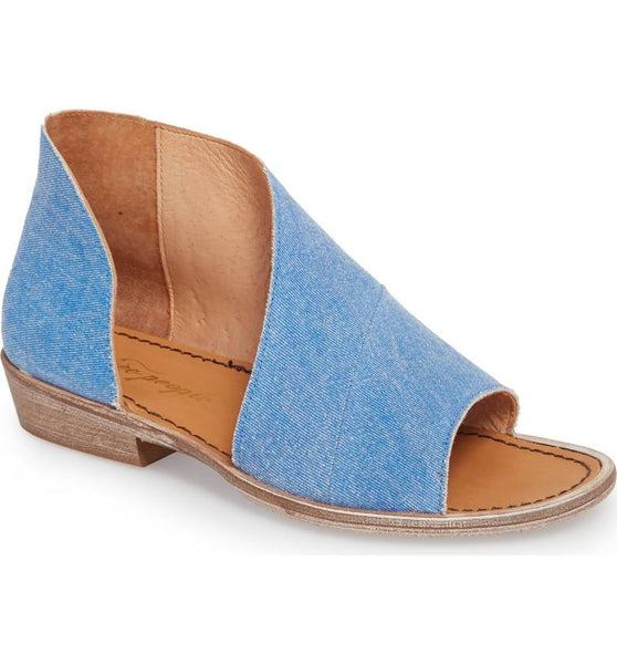 FREE PEOPLE Mont Blanc Sandal in Washed Denim