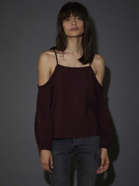 NATION LTD Yvette Frayed Desert Top