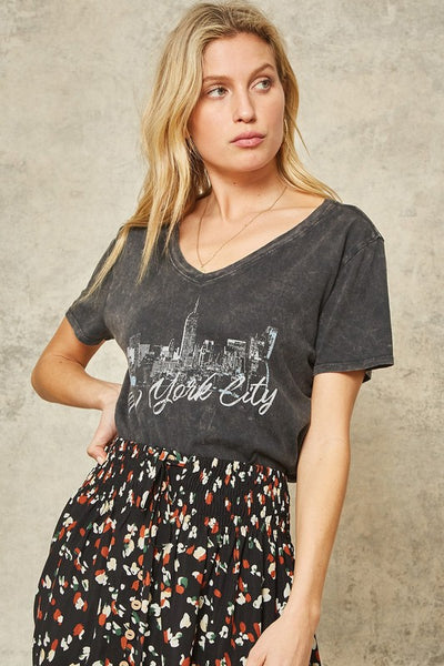beauty + grace Graphic V Neck Tees
