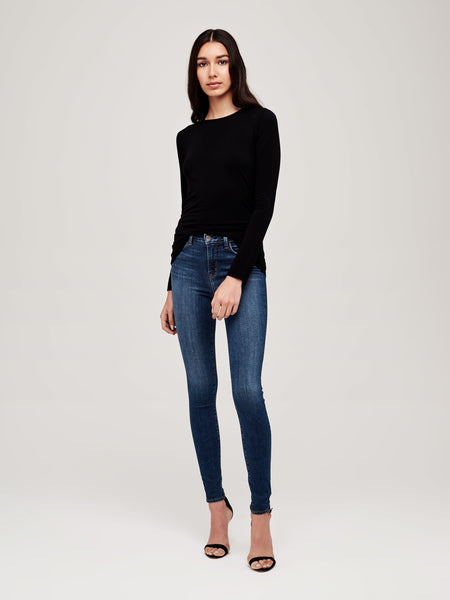 L'AGENCE Tess Crew Neck Long Sleeve