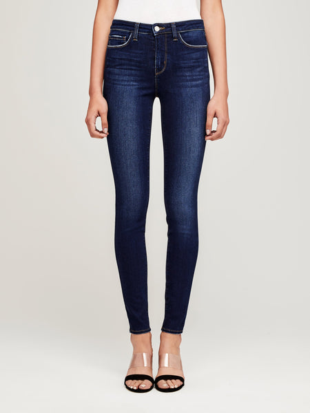 L'AGENCE Marguerite High Rise Skinny Jeans in Baltic