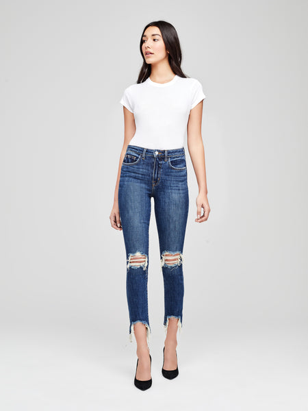 L'AGENCE High Line High Rise Destructed Jean
