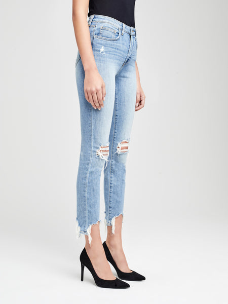 L'AGENCE High Line Skinny Destructed Denim