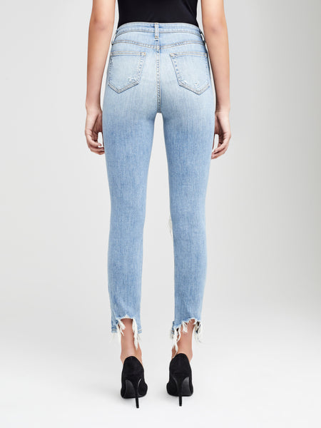 L'AGENCE High Line Skinny Destructed Denim (Light Wash)
