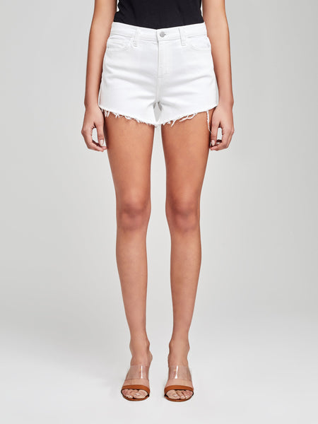 L'AGENCE Ryland H/R Short in Blanc