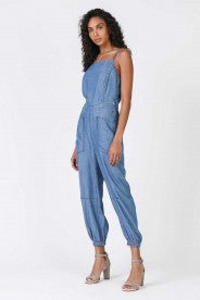 beauty + grace Spaghetti Strap Jumpsuit with Pockets