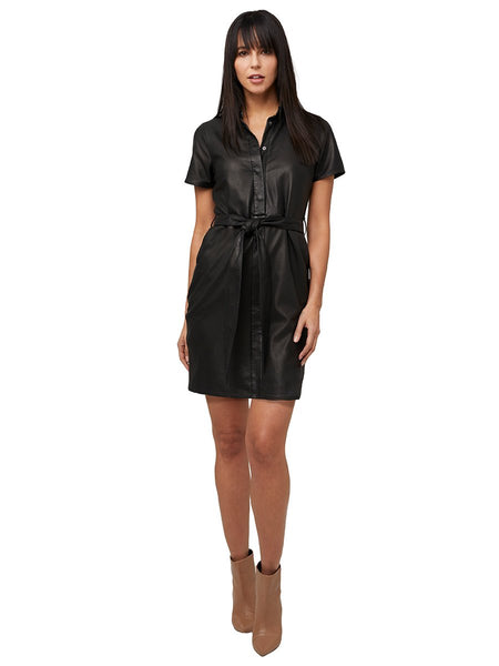 AS by DF Muse Leather Shirtdress