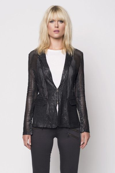 BANO EEMEE Attica Black Leather Jacket
