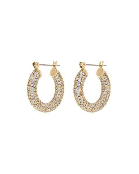 beauty + grace Pave Baby Amalfi Hoops