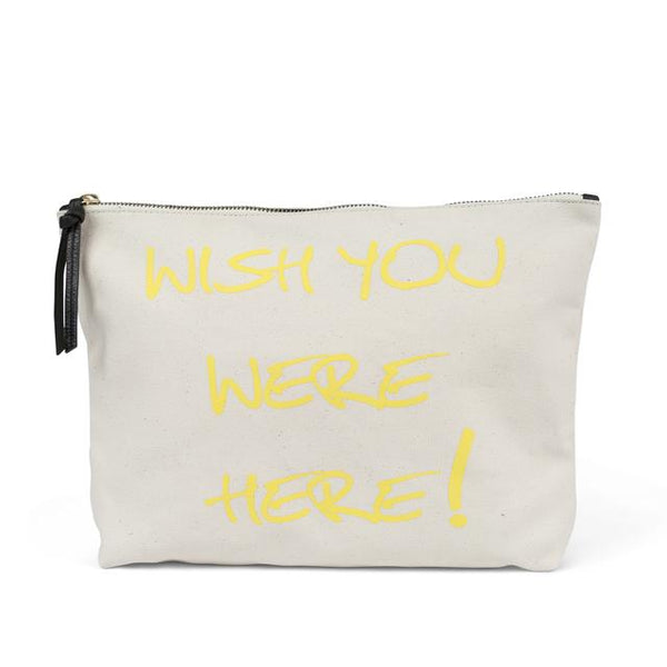 KEMPTON & CO Wish You Were Here Canvas Pouch