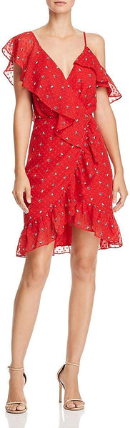 WAYF Red Floral Dress