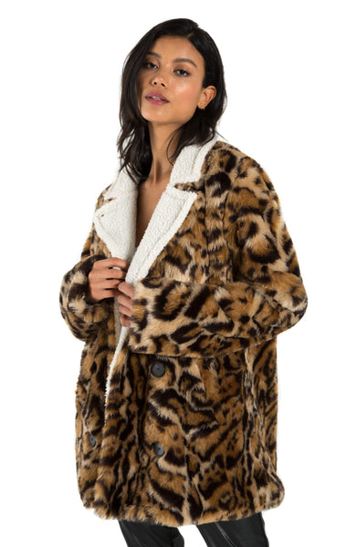 PHILANTHROPY Turn Jacket Leopard