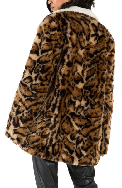 n: PHILANTHROPY Turn Jacket Leopard