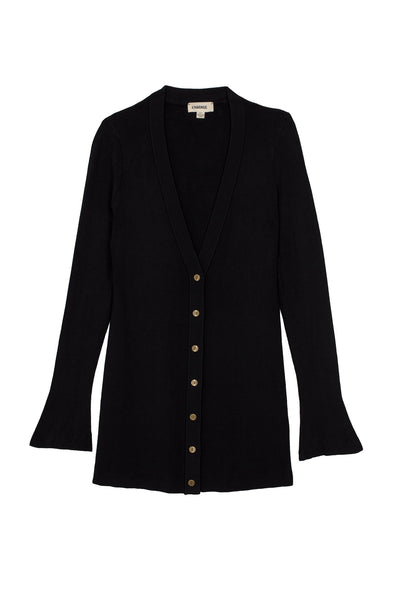 L'AGENCE Lucas Long Cardigan in Black