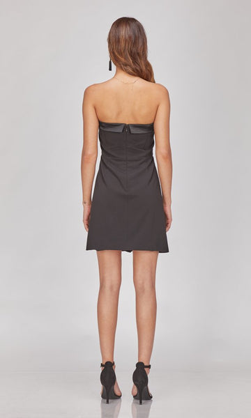 GREYLIN Reagan Strapless Tuxedo Dress