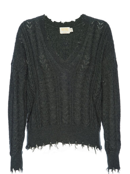 NATION LTD Noa Destroyed Lacey Sweater