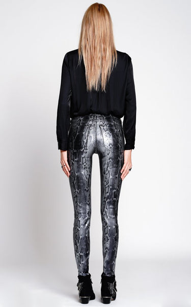 BLACK ORCHID Jude Mid-Rise Super Skinny w/Python Foil