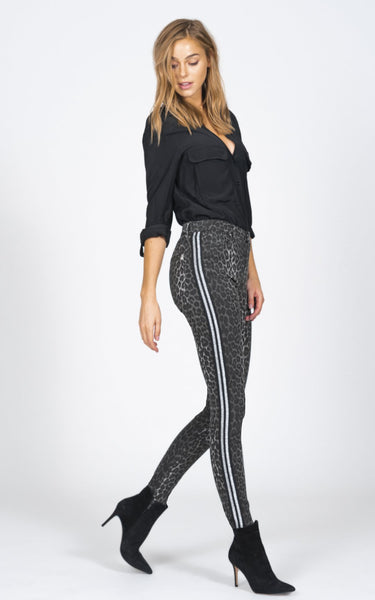 BLACK ORCHID Gisele High Rise Super Skinny in Grey Leopard