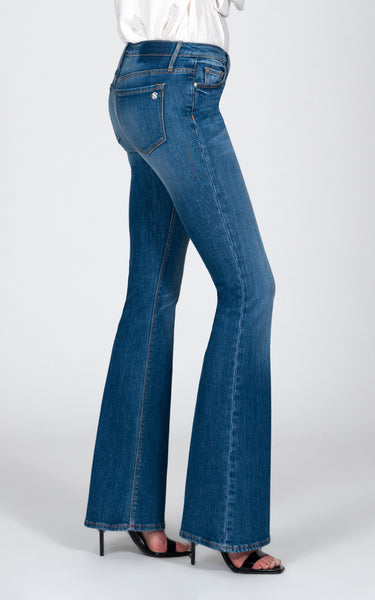 BLACK ORCHID Mia Mid Rise Skinny Flare in Hey Sunshine