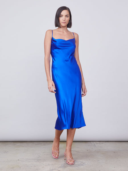 ALLEN SCHWARTZ Celia Silk Slip Dress