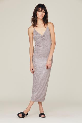DAVID LERNER Emily Ruched Front Slip Dress