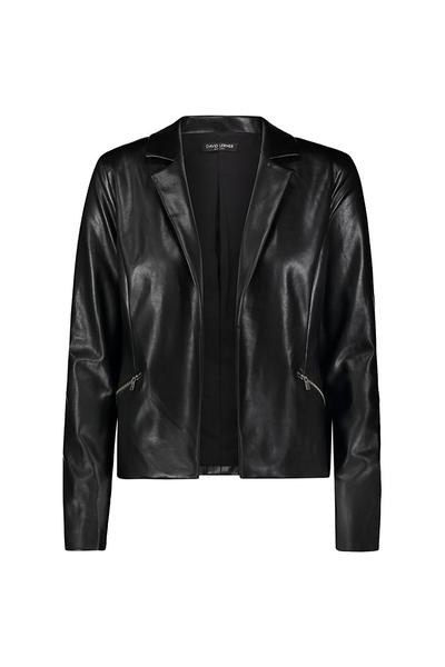 DAVID LERNER Vegan Leather Blazer