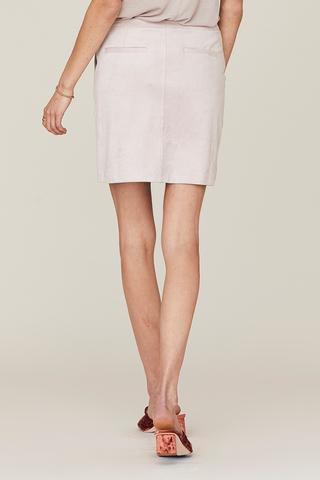 DAVID LERNER Sofia Zip Front Cargo Skirt in Dusty Lavendar