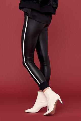 DAVID LERNER Kelly Cuffed Leggings with Double Side Tape