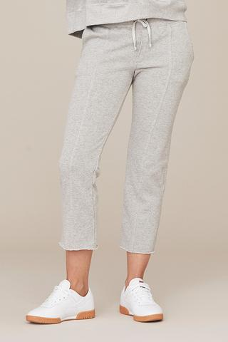 DAVID LERNER Seamed Crop Lounge Pant