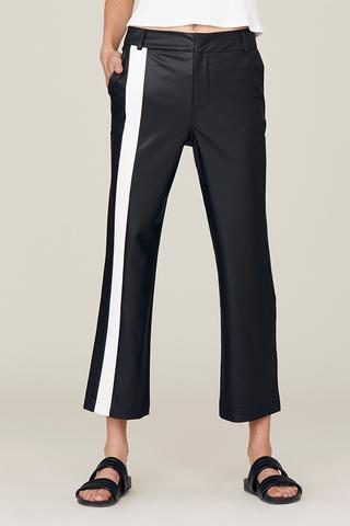 DAVID LERNER Campbell Crop Flare Trouser w/Front Stripe