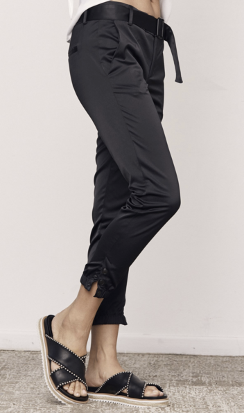 DAVID LERNER Belted Snap Trouser