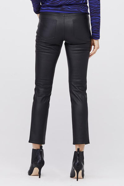 DAVID LERNER Jagger 5-Pocket Vegan Leather Pant