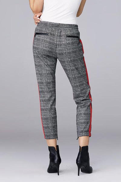 DAVID LERNER Plaid Slim Track Jogger