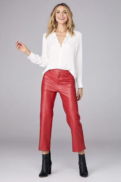 DAVID LERNER High Rise Straight Leg Pant