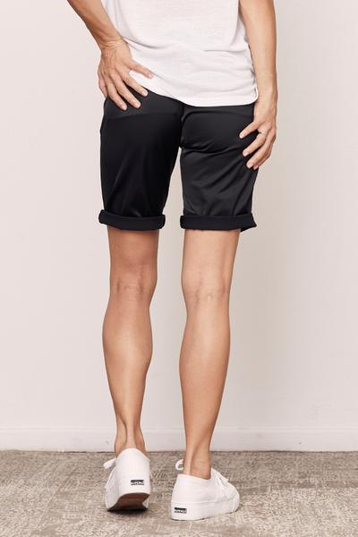 DAVID LERNER Stevie Bermuda Shorts in Black