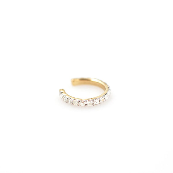 ADINA REYTER Pave Ear Cuff 14K Yellow Gold