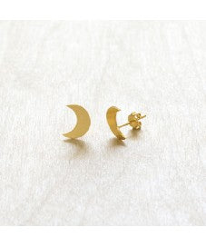 beauty + grace Crescent Moon Studs
