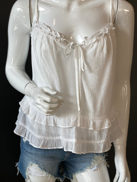 beauty + grace Frill Tiered Cami Top