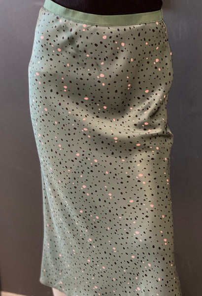beauty + grace Dot Bias Satin Skirt